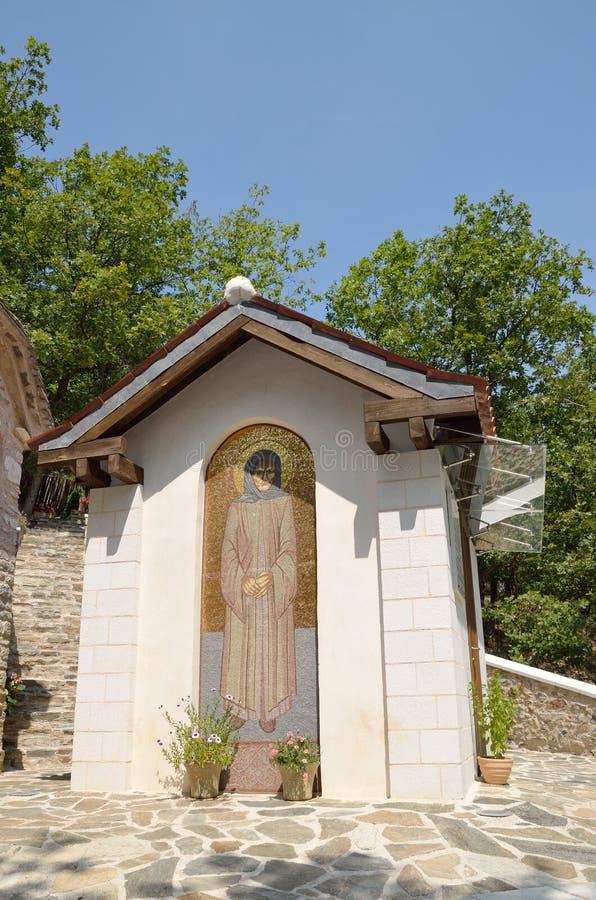 Chapelle de St Sophia le juste, au monastère de la nativité de Theotokos dans Kleisoura, la Grèce images stock