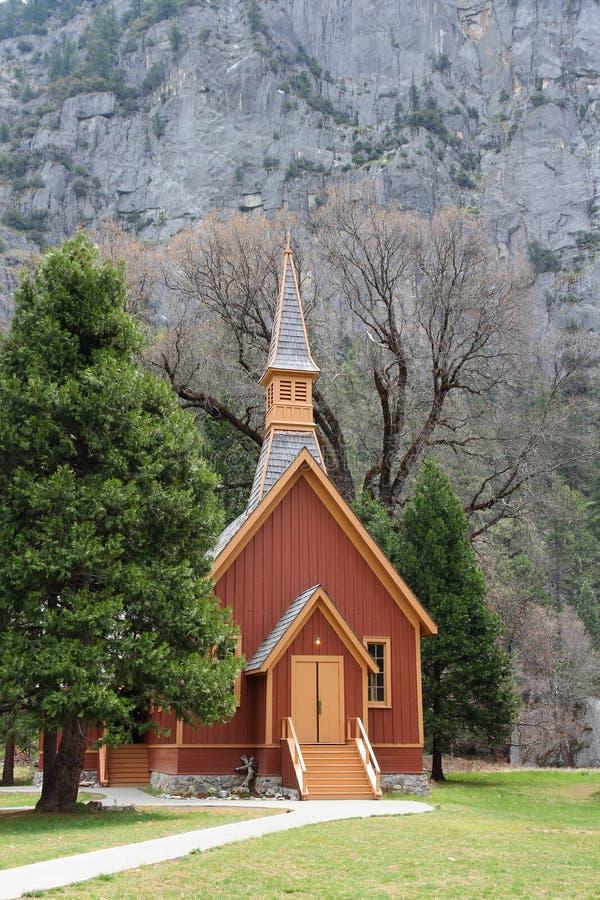Chapelle de vallée de Yosemite photographie stock libre de droits