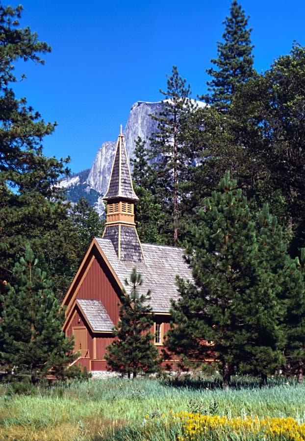 Chapelle de Yosemite photo stock
