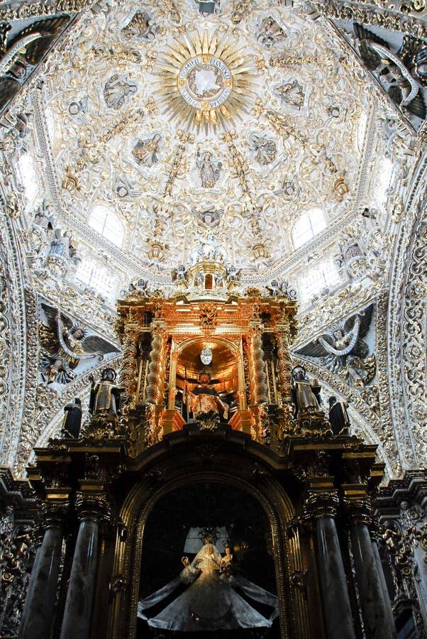 Chapelle du rosaire, église de Santo Domingo, Puebla photographie stock libre de droits