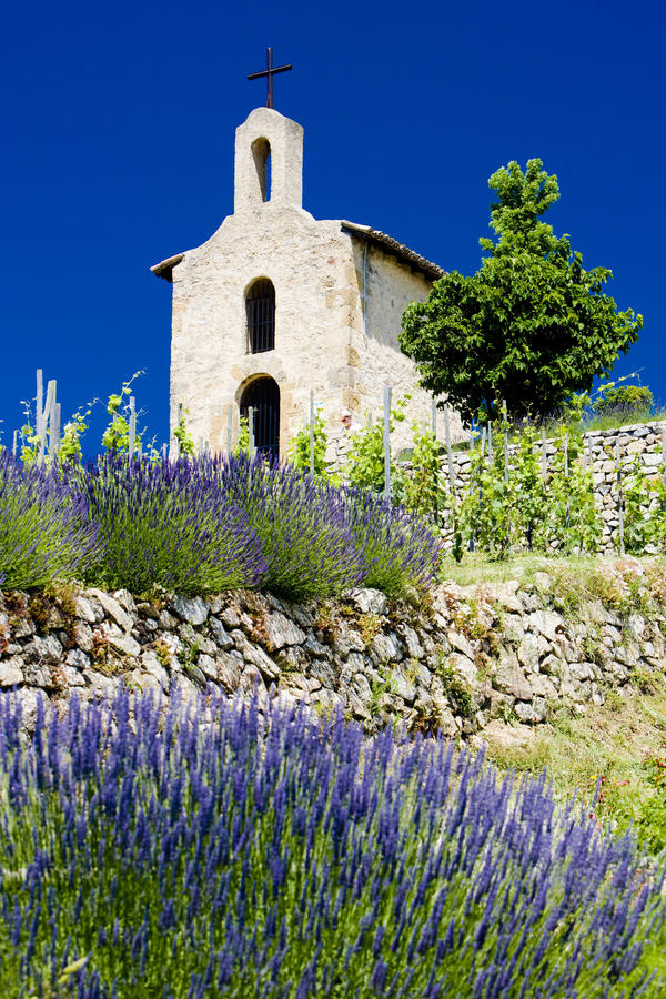 Chapelle en France photo stock