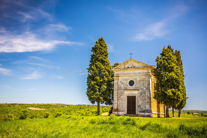 Chapelle en Toscane photo stock
