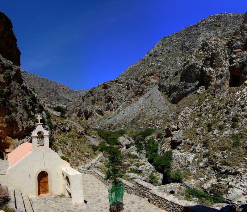 Chapelle en vallée photo stock