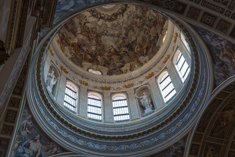 Chapelle Frescoed de saint Andrea Church Mantua - en Italie images libres de droits
