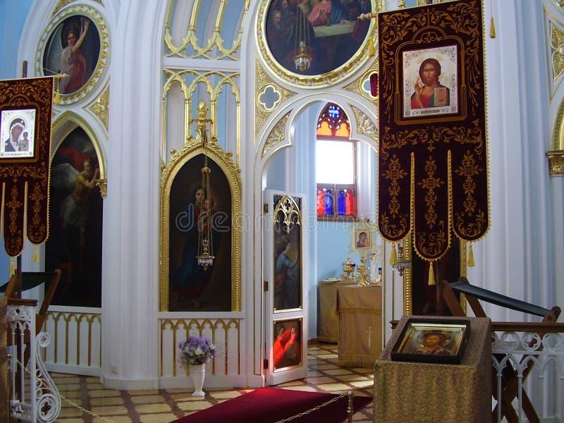 Chapelle gothique dans le peterhof, l'Alexandrie. image libre de droits