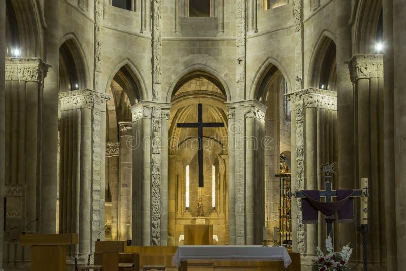 Chapelle intérieure dans la cathédrale de Santo Domingo de la Calzada, image libre de droits