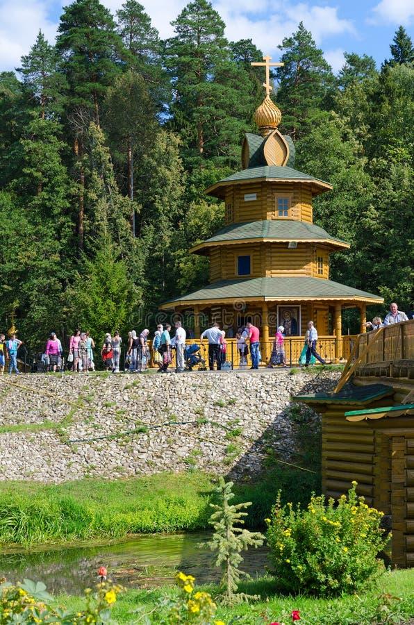 Chapelle le ressort saint dans le nom du moine Seraphim de Sarov, Russie photo libre de droits