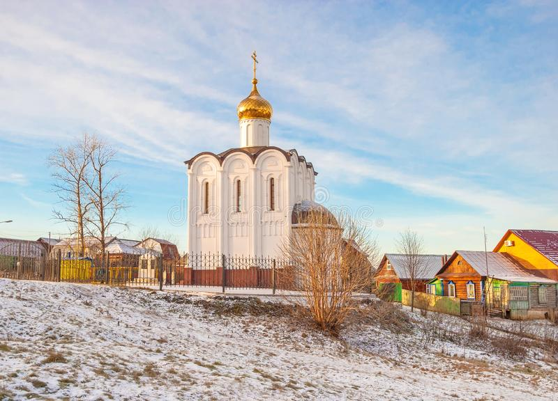 Chapelle-monument dans Maloyaroslavets photo stock