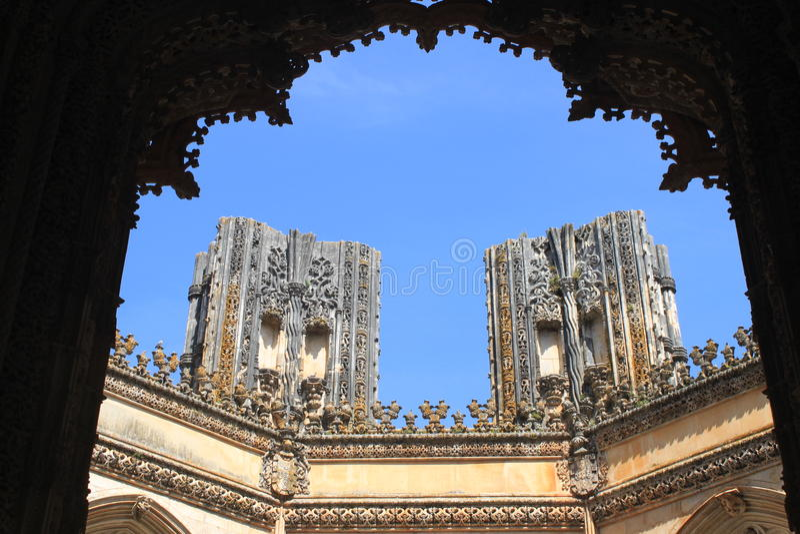 Chapelle non finie au monastère de Batalha image stock
