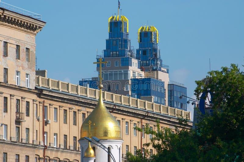 Chapelle. Novosibirsk. photographie stock