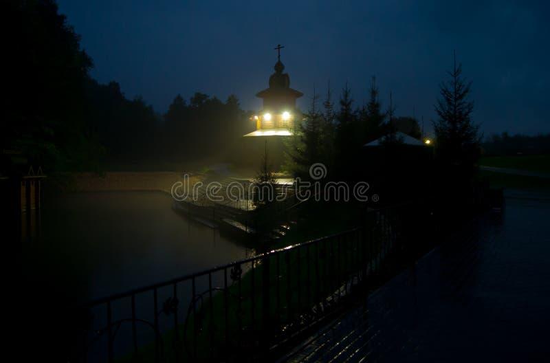 Chapelle orthodoxe près du ressort saint de sarov images libres de droits