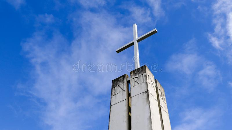 Chapelle ou pompes funèbres religieuse pour des funérailles photographie stock libre de droits