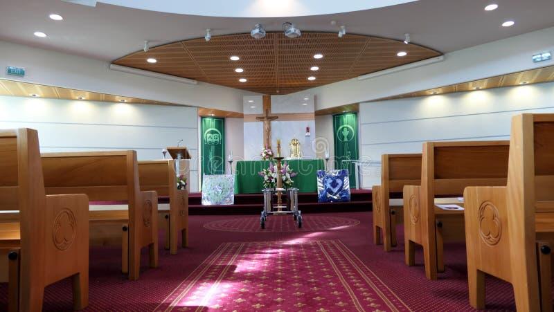 Chapelle ou pompes funèbres religieuse pour des funérailles photos libres de droits