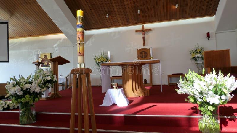 Chapelle ou pompes funèbres religieuse pour des funérailles photo stock