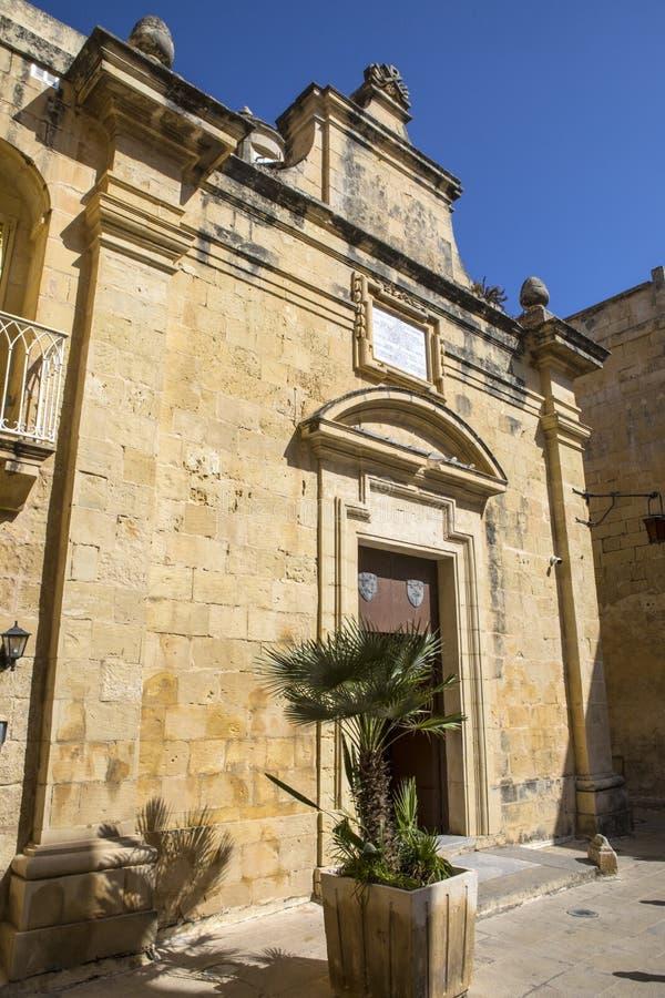 Chapelle Sainte-Agathe à Mdina images libres de droits