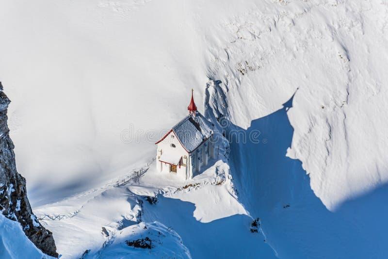 Chapelle sur Klimsenhorn image stock