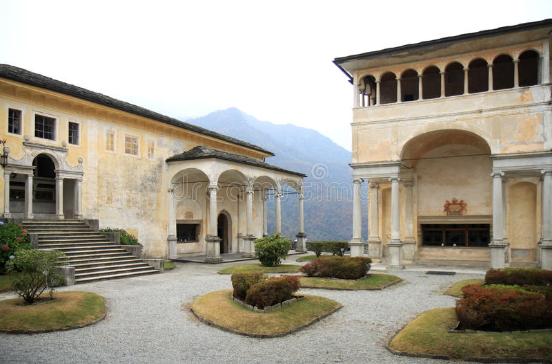 Chapelles de Sacro Monte di Varallo, Italie images stock