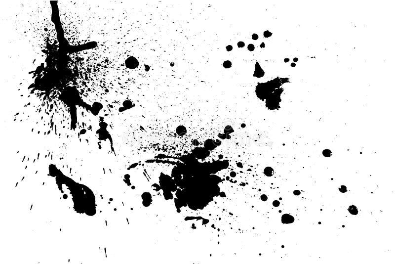 Chapinhar a textura da pintura Fundo áspero da aflição Mancha do pulverizador de tinta preta Vetor abstrato Mão desenhada fotografia de stock royalty free