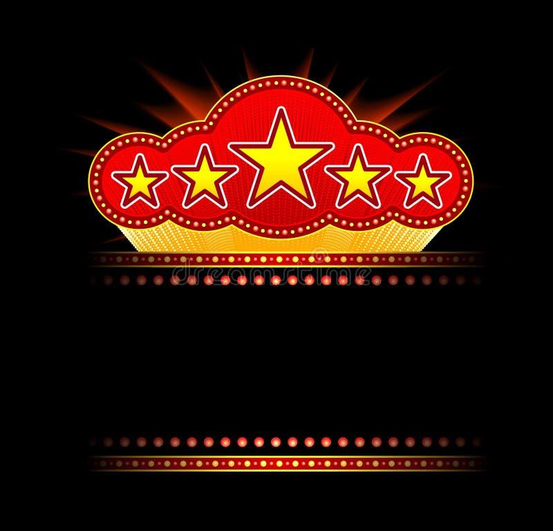 Chapiteau blanc de film, de théâtre ou de casino illustration stock