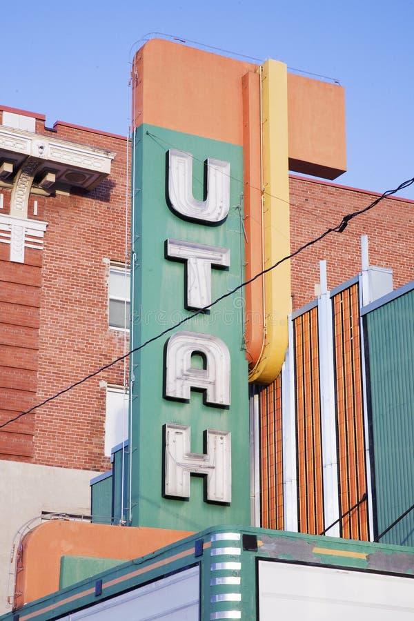 Chapiteau de cinéma de l'Utah images libres de droits