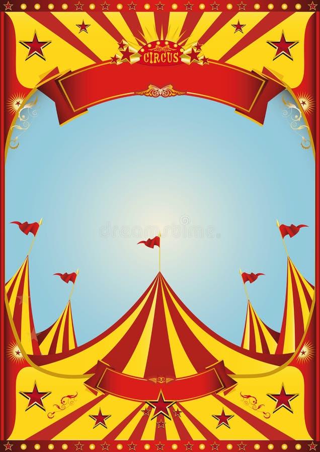 Chapiteau de cirque de ciel illustration libre de droits