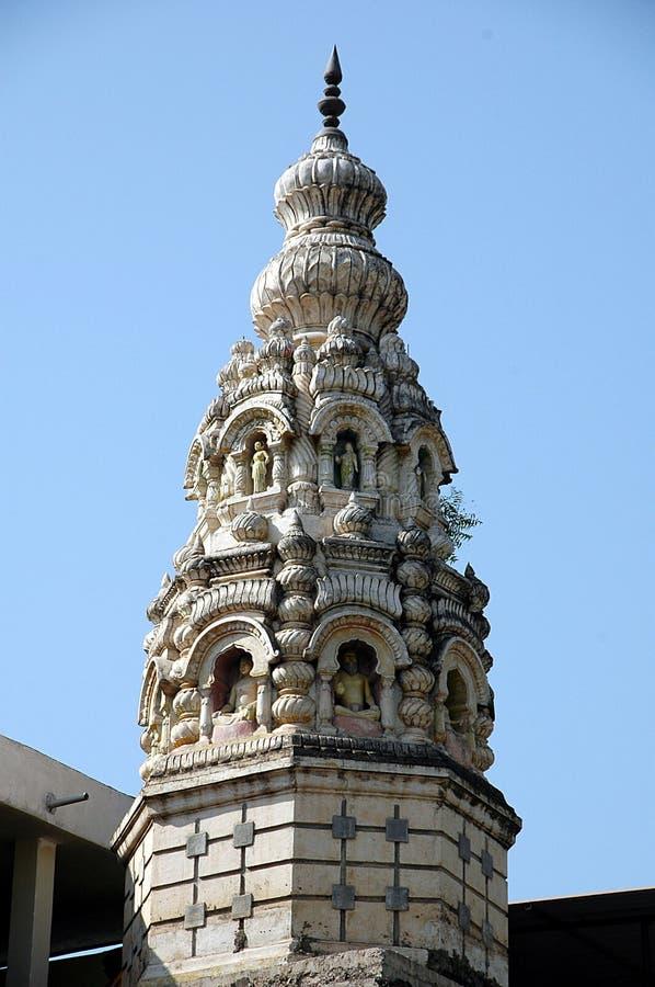 Chapitel adornado del templo fotografía de archivo