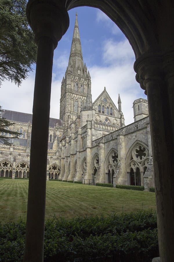 Chapitel de la catedral de Salisbury imagenes de archivo