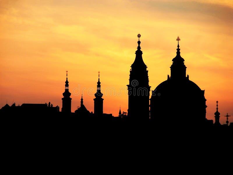 Chapiteles de Praga fotografía de archivo