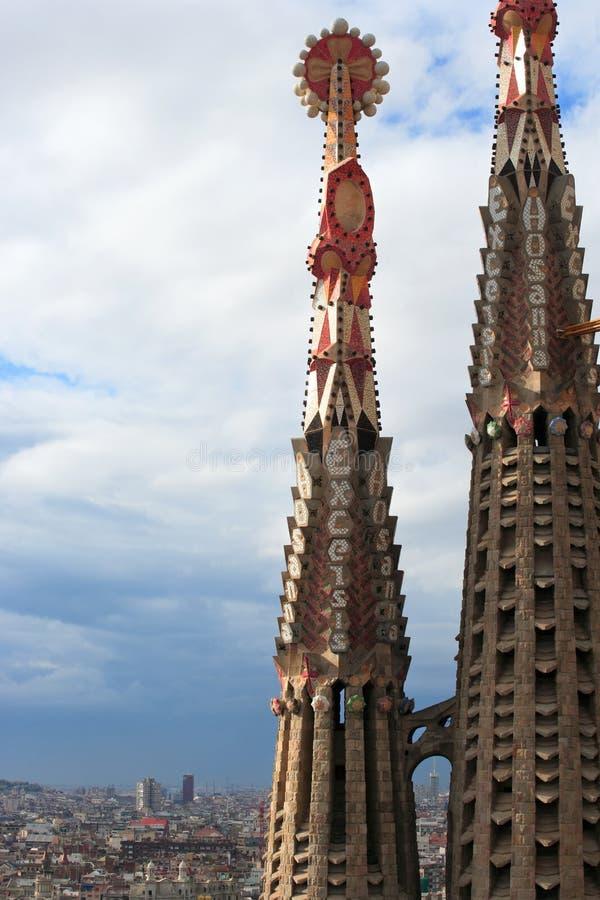 Chapiteles de Sagrada Familia imágenes de archivo libres de regalías