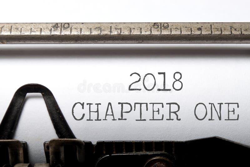 chapitre 2018 un photos stock