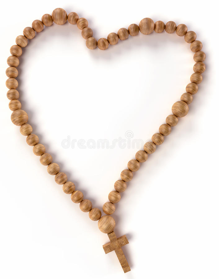 Download Chaplet Or Rosary Beads Heart Shape Stock Photo - Image: 22254368