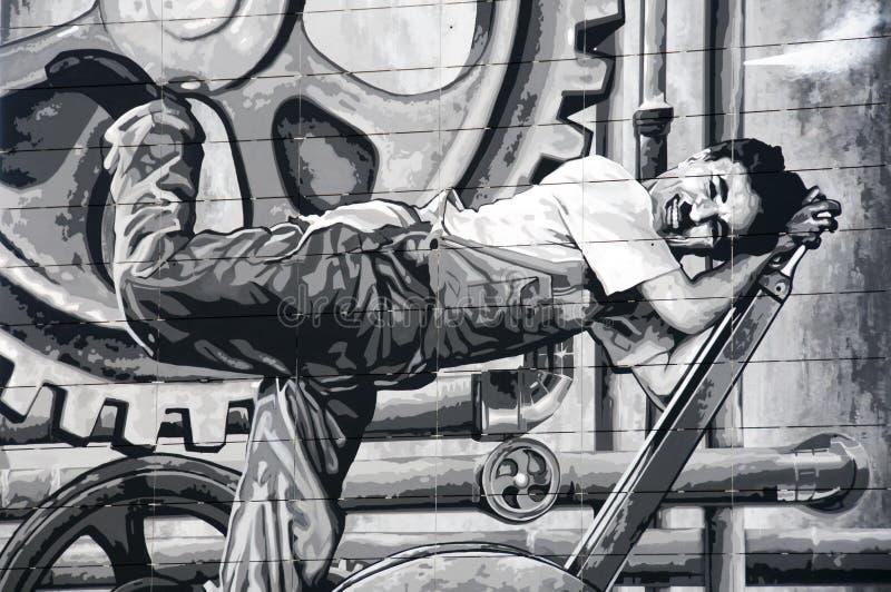 chaplin Charlie obrazy royalty free