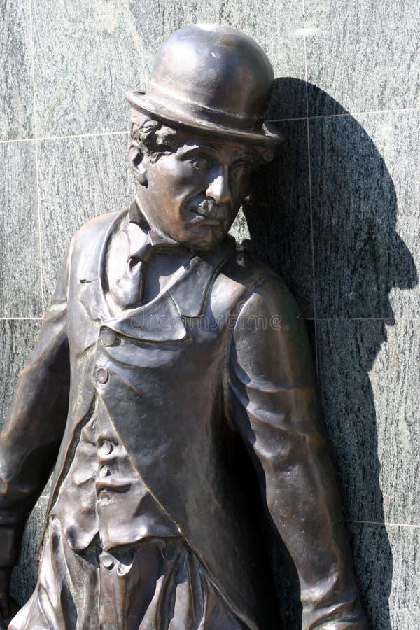chaplin charlie staty royaltyfri fotografi