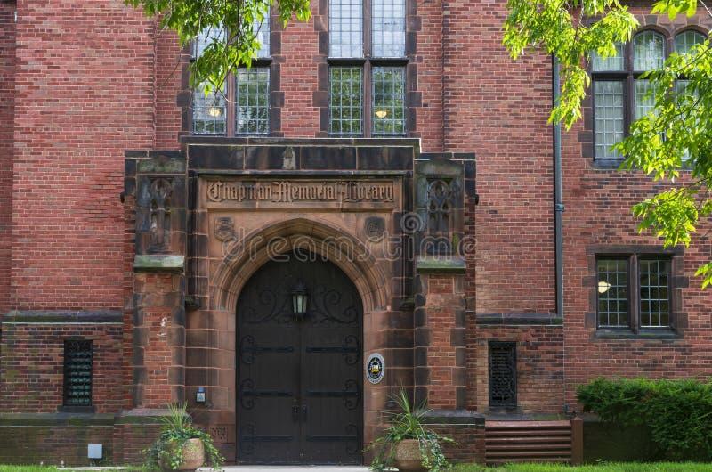 Chapman Hall Building Entrance à Milwaukee images stock