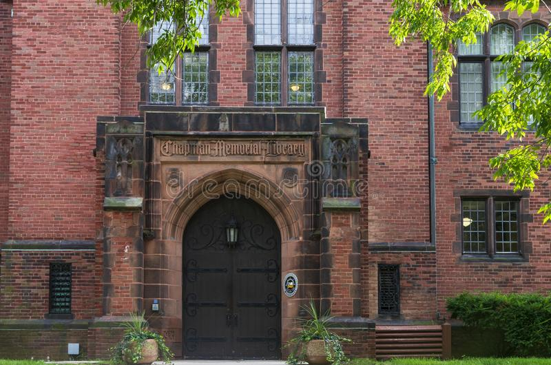 Chapman Hall Building Entrance in Milwaukee. Milwaukee, Wisconsin/USA –September 2, 2018: Chapman Hall building at University of Wisconsin Milwaukee. The stock images