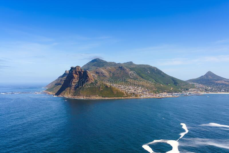 Chapman`s Peak in Cape Town, South Africa. Copy space for text. Chapman`s Peak in Cape Town, South Africa. Copy space for text stock photo