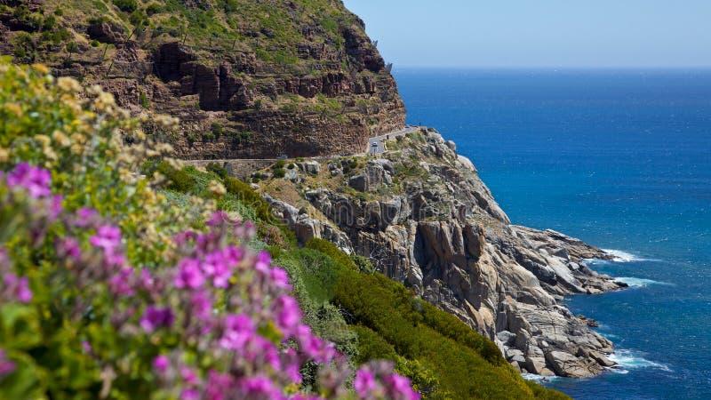 Chapman's Peak Drive. Scenic Chapman's Peak Drive, Cape Peninsula, South Africa stock photos