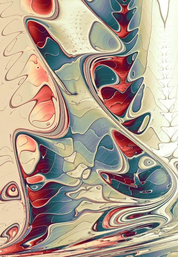 Chapoteo abstracto de la pintura del fractal stock de ilustración