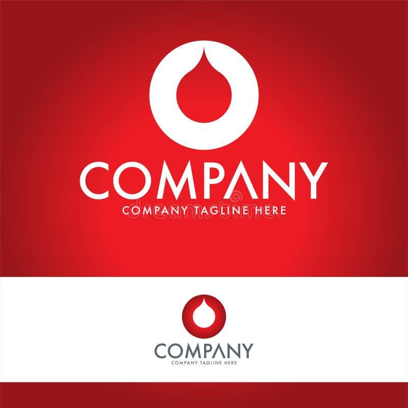 Chapoteo abstracto Logo Design Template de la letra O stock de ilustración