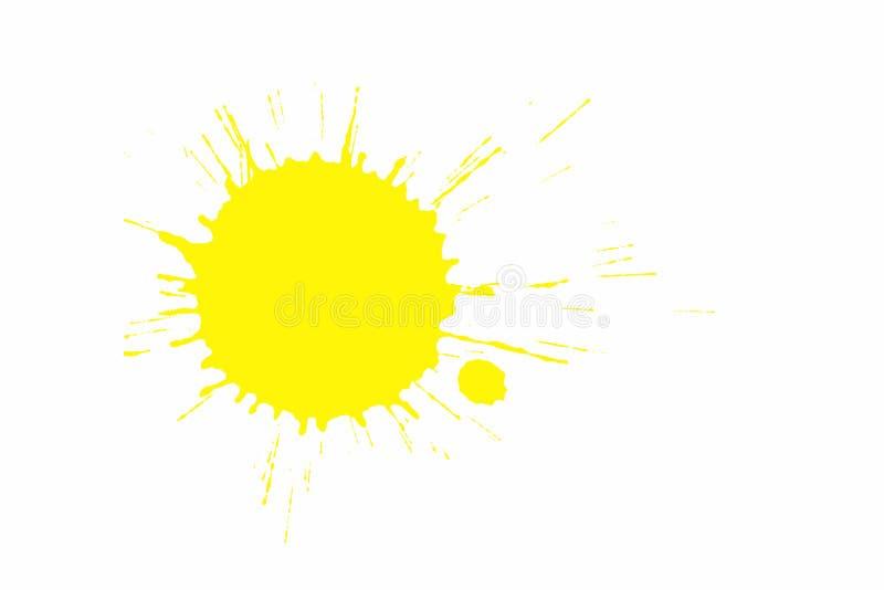 Chapoteo amarillo de la pintura ilustración del vector