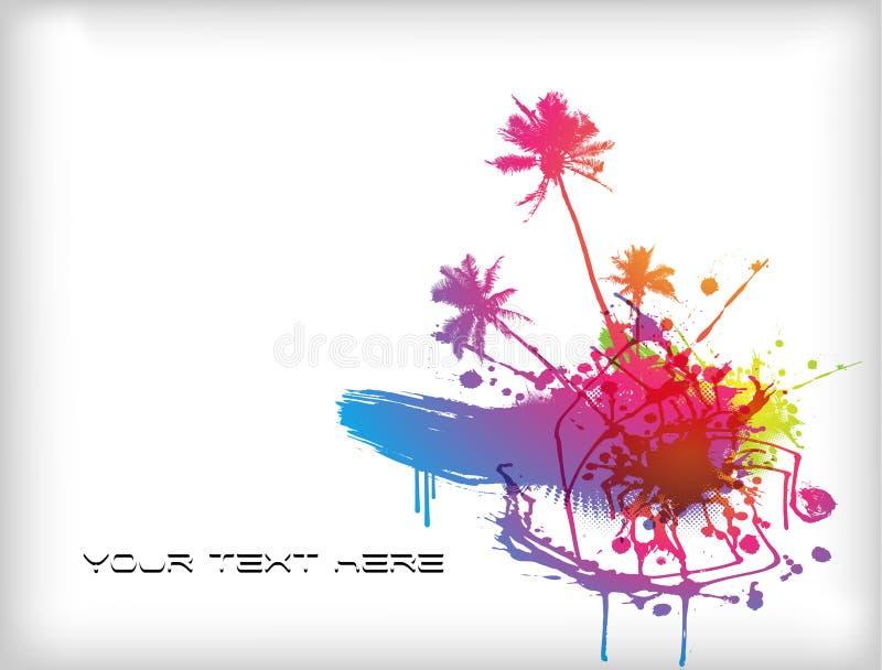 Chapoteo coloreado con el lugar para su texto. stock de ilustración
