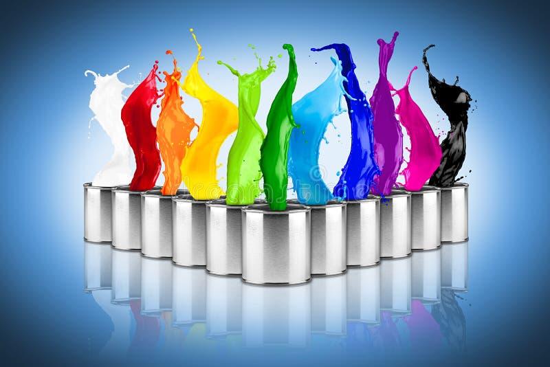 Chapoteo colorido de la dosis del color del arco iris libre illustration