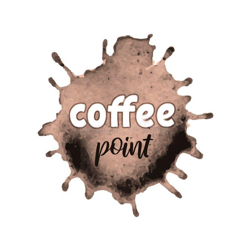 Chapoteo de Brown con las letras manuscritas para la cafetería, barra, menú del restaurante libre illustration