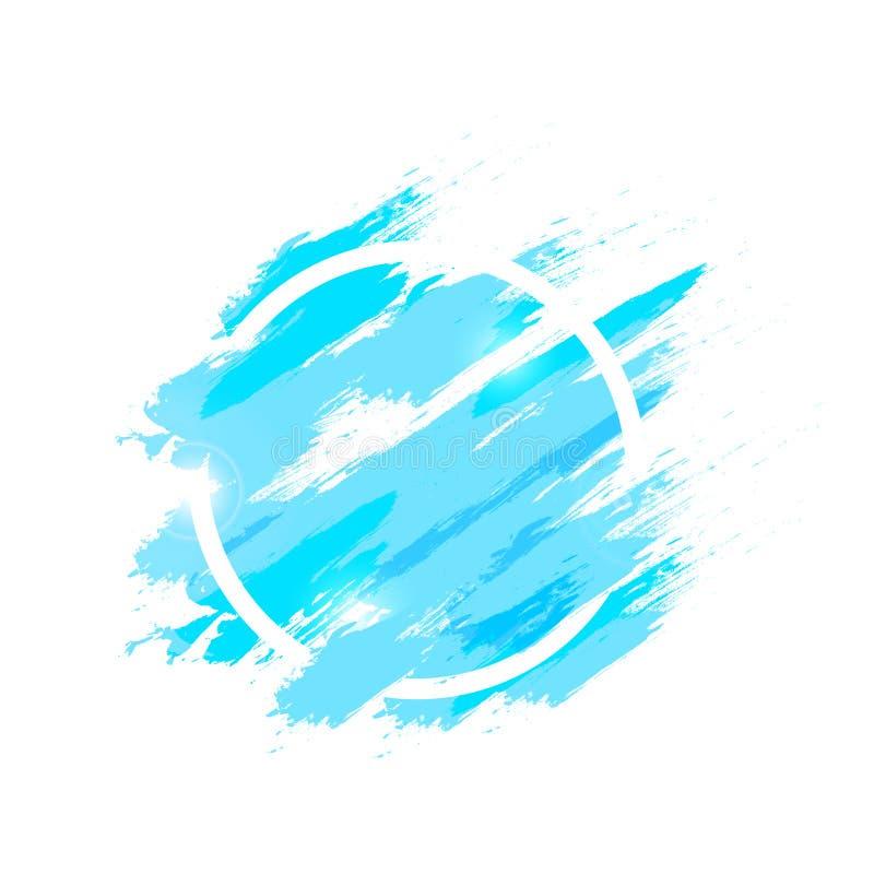 Chapoteo de la acuarela con el ejemplo circular de la textura del fondo del extracto de la cuaderna del cepillo del grunge, belle stock de ilustración