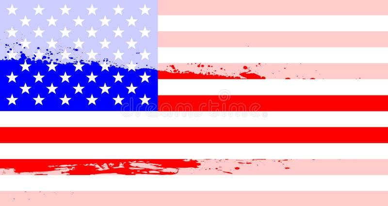 Chapoteo de la bandera de los E.E.U.U. stock de ilustración