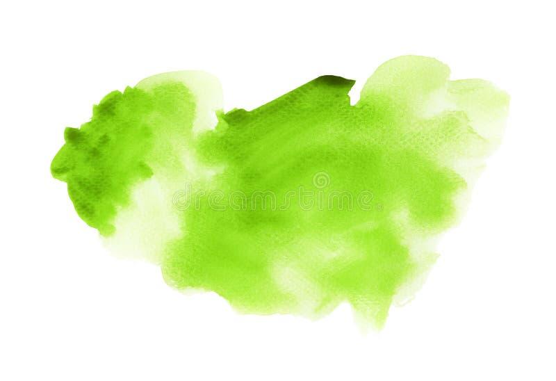 Chapoteo de la fantasía de la acuarela verde imagen de archivo