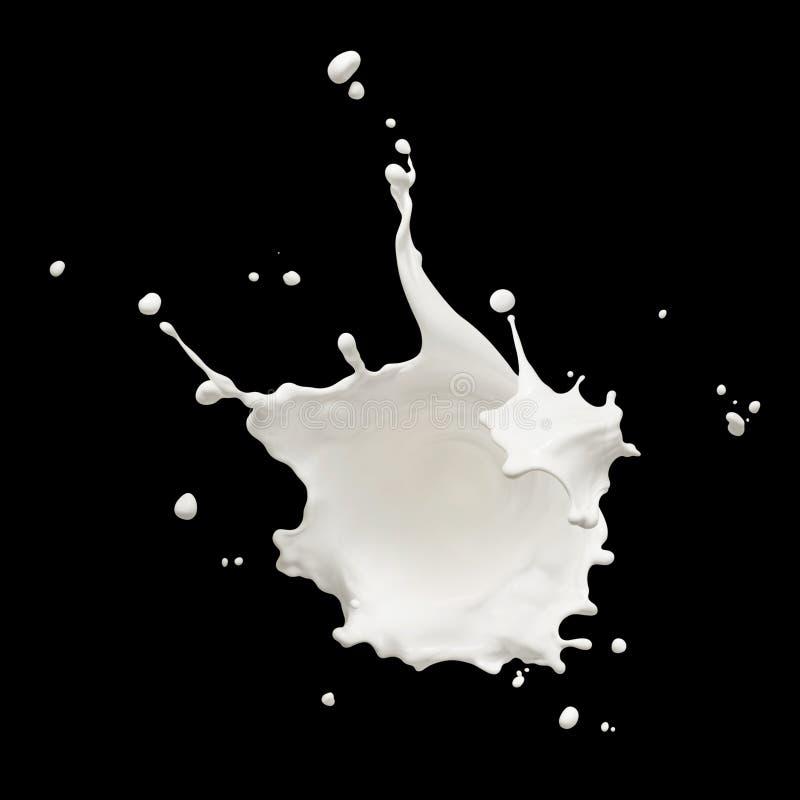 Chapoteo de la leche fotografía de archivo libre de regalías