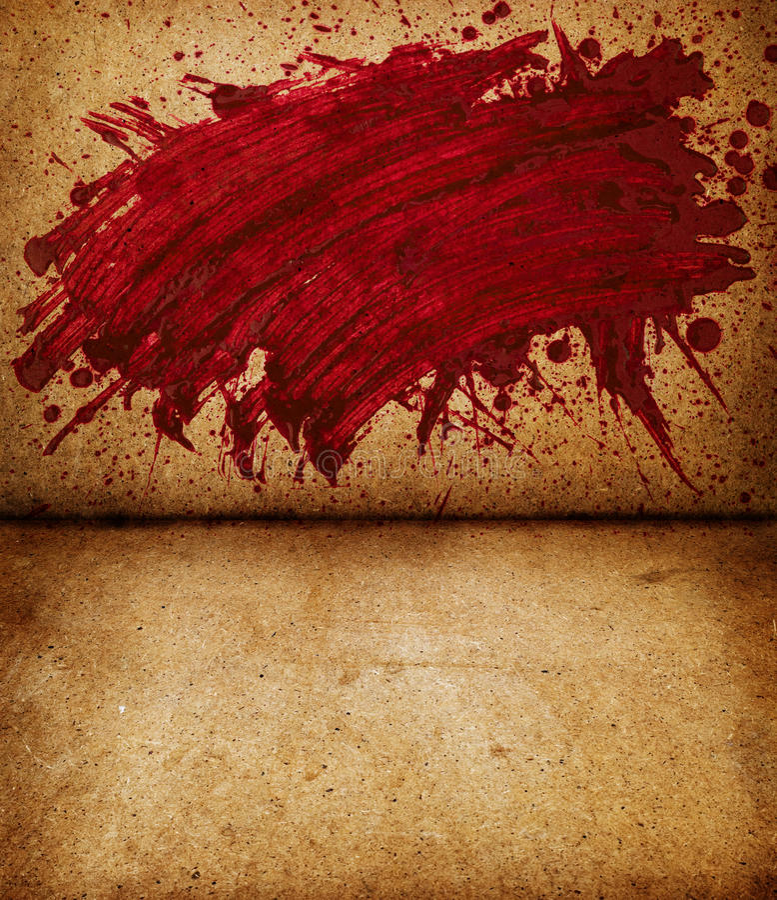 Chapoteo de la sangre imagen de archivo