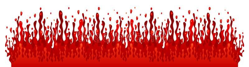 Chapoteo de la sangre ilustración del vector