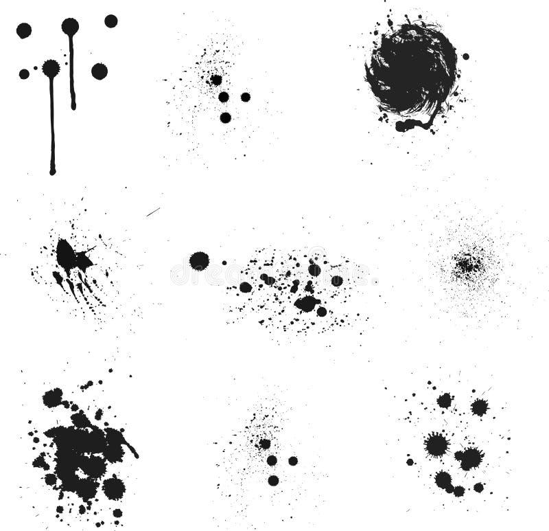 Chapoteo de la tinta stock de ilustración